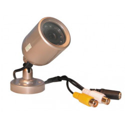 Camera surveillance video n/b 12v objectif tube etanche led infrarouge vision nocturne ir camzwbul5