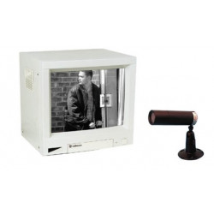 Pack vigilancia vídeo n b 5 ' 12cm 2 canales 1 cámara cinematográfica 1 maestro(monitor) vigilancia vídeo vigilancia