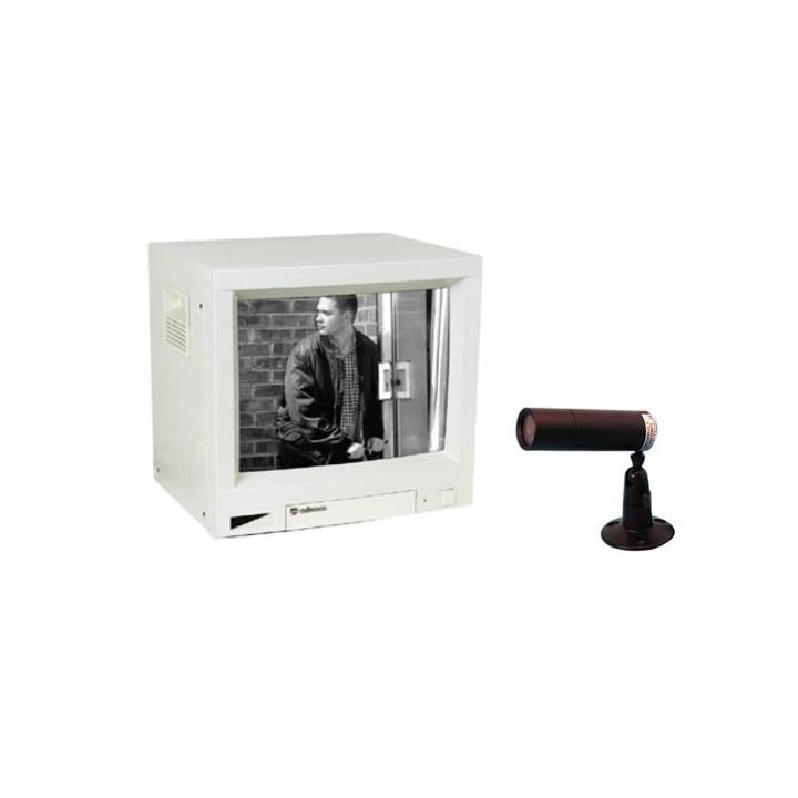 Videouberwachung schwarz und weiss pack 5'' 1 monitor 12cm 2 kanale videokamera videouberwachung schutzung fur geschafte haus wo