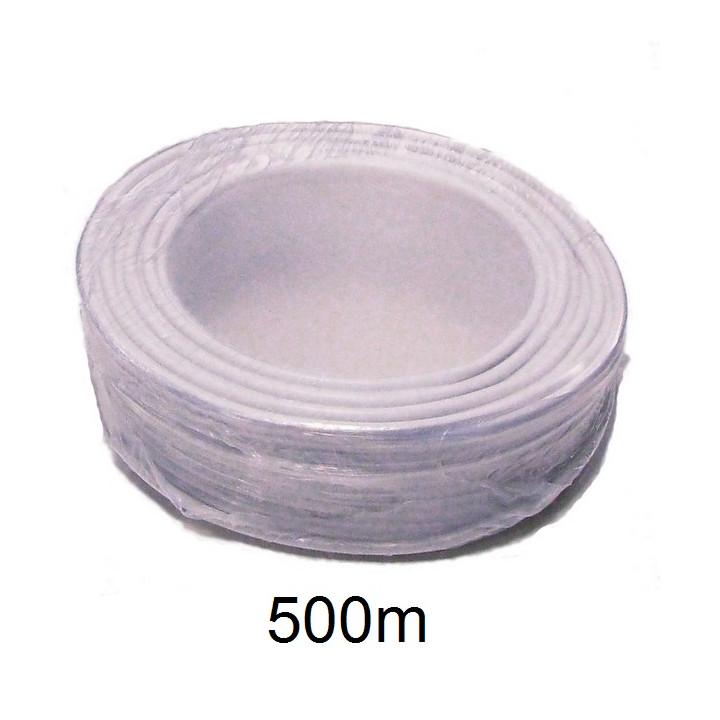 500m cable 10x0,22 souple blinde blanc ø5.5mm fil telephone avec ecran cablage alarme