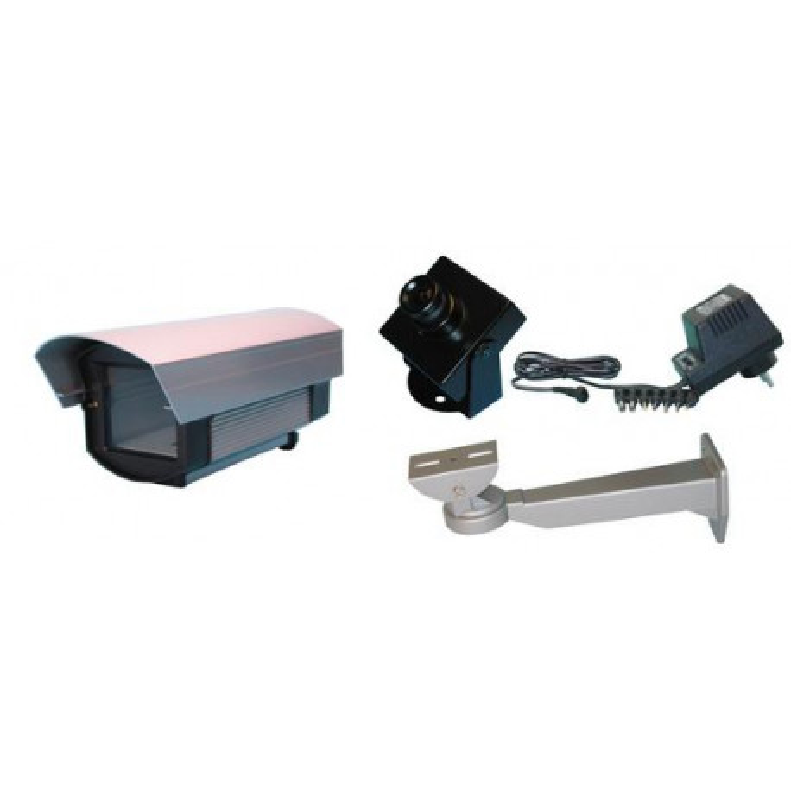 B w video camera pack for videosurveillance + waterproof housing