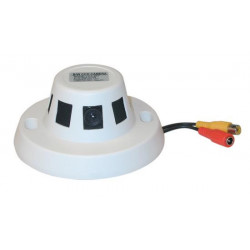 Ccd video monitoring camera black and white 12v with objective in the smoke detector video monitoring camera