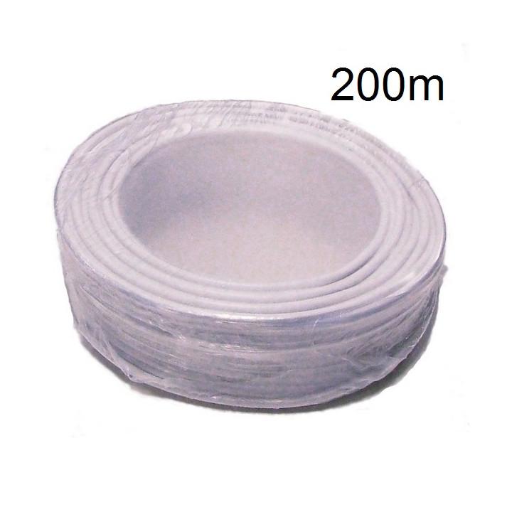 Cable 20x0.22 souple blinde blanc ø6.7mm (100m) fil 20x0,22 installation téléphonique alarme