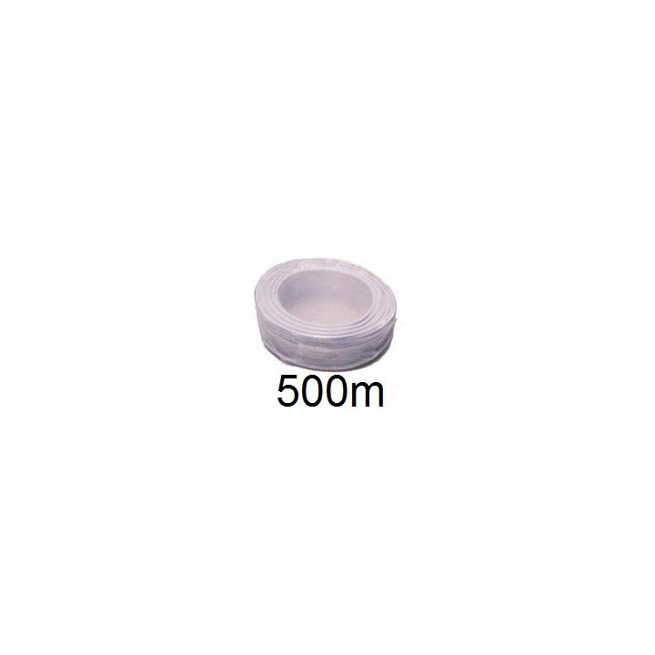 Cable 6x0.22 2x0.75 souple blinde blanc ø6mm (500m) fil 6x0,22 2x0,5 avec ecran cablage alarme