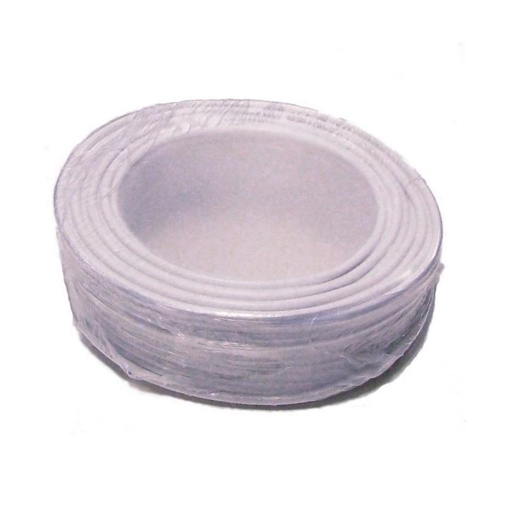 Cable 20x0.22 souple blinde blanc ø6.7mm (1m) fil 20x0,22 installation téléphonique alarme