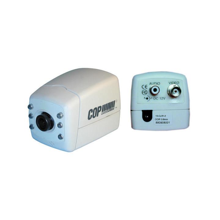 Camara blanco y negro 12v 1 3'' + objetivo 3.6mm + leds por infrarrojos vigilancia videovigilancia camaras b n video camara