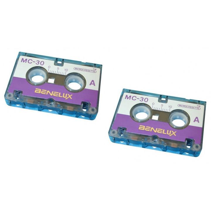 Audio tape audio microcassette, 30 minutes (2 units) miniature tape mini cassettes audio tape audio microcassette, 30 minutes (3
