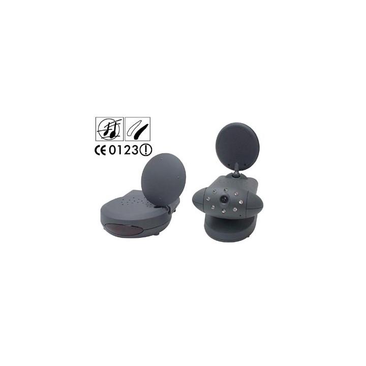 Emisor receptor video 2.4ghz 4 canales + camara b n video vigilancia inalambrica blanco y negro avmod9