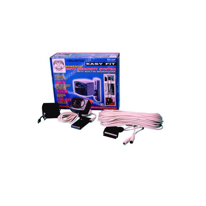 Camara b n 220 6v + objetivo resistente al agua + leds ir vigilancia videovigilancia camaras video blanco y negro camara