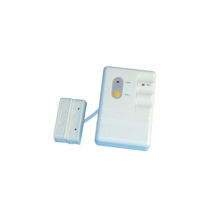 Detecteur ouverture magnetique alarme contact sans fil 20/40m 433mhz pour alarme radio hf ce1 sws 01