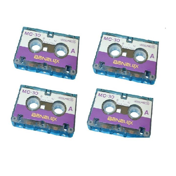 Audio tape audio microcassette, 30 minutes (4 piece) miniature tape mini cassettes audio tape audio microcassette, 30 minutes (1