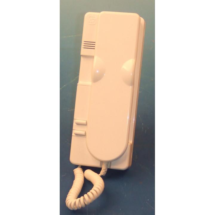 Combine interphone (blanc) pour portier extel 1050a 2 boutons poussoirs contact sec