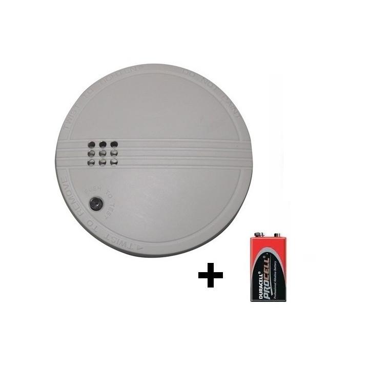 Detector humo electronico 9vcc o 220vca buzzer alarma detector alarma electronico incendio