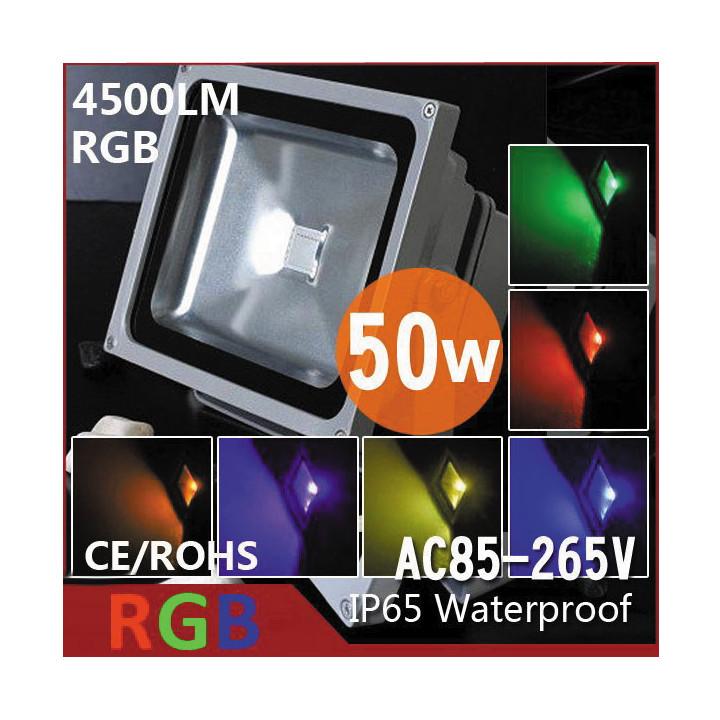 Proyector led 50w rgb rojo azul verde con la memoria y el control remoto 220v 110v exterior ip65