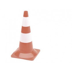 Red and white cone 50cm height protection security safety signs warning protection safety