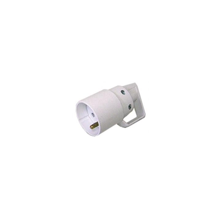 Presa elettrica 16a 220vca bianco femmina connessione elettrica