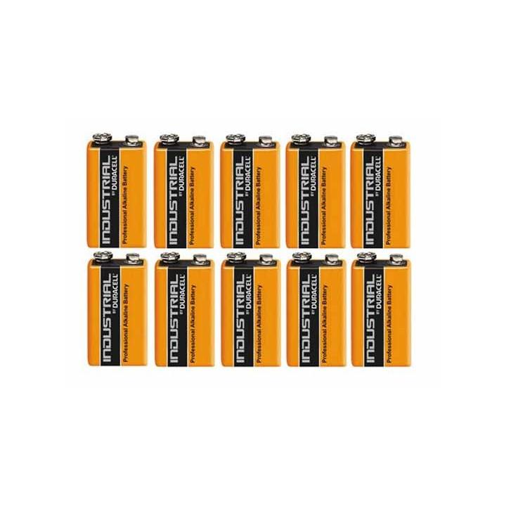 10 pile 9v alcaline duracell procell mn 1604 6lr61 pour ze5 6lf22 am6 1604a 522 mn1604