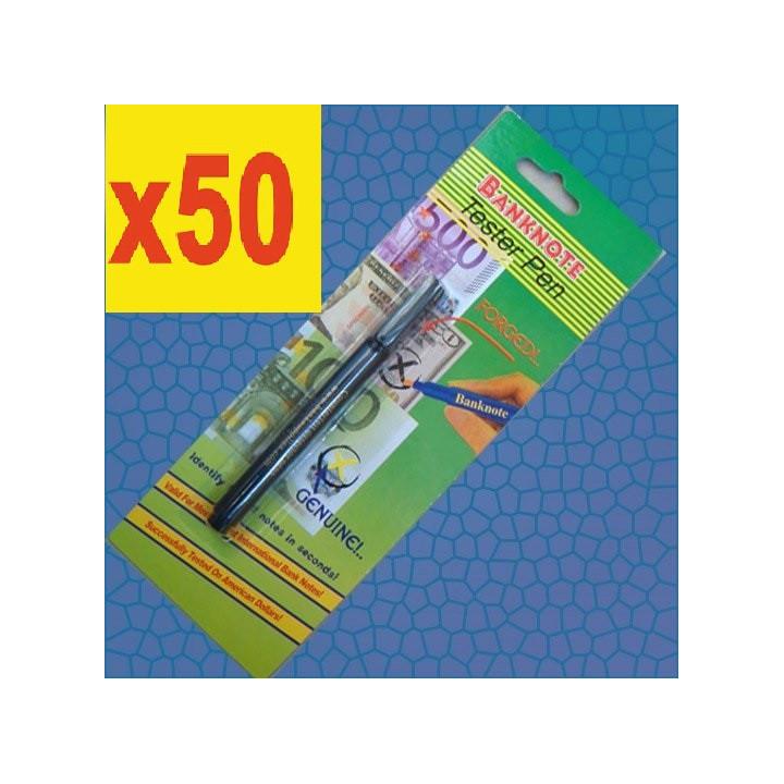 50 stylo detecteur testeur faux billet euro feutre detector detection usd 14 devises