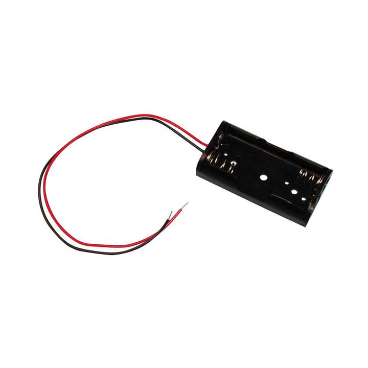 Koppler mit 2 batterien r6 mit draht aa am3 lr6 15a e91 mn1500 815 4006 gehause mit 2 akkumulatoren