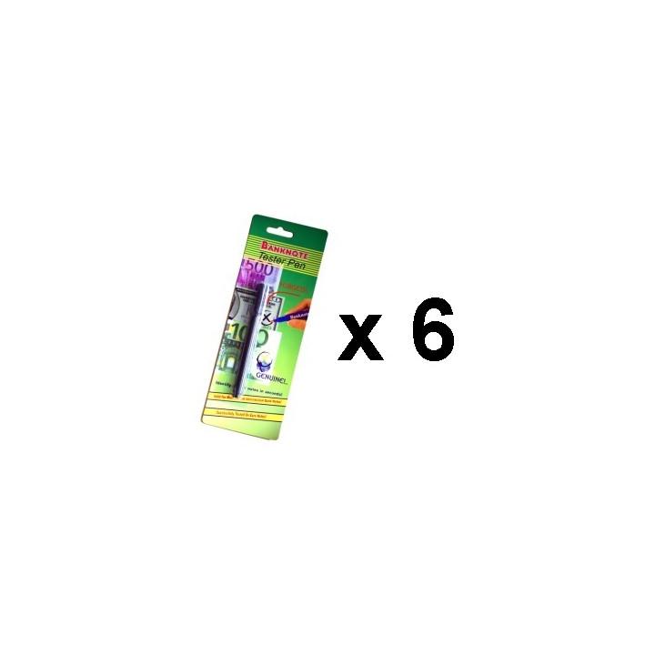 6 fieltro detector lápiz detector de billetes falsos de detección de usd 14 euro moneda