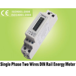 Indicator of the distribution of consumption for single-phase meter installation