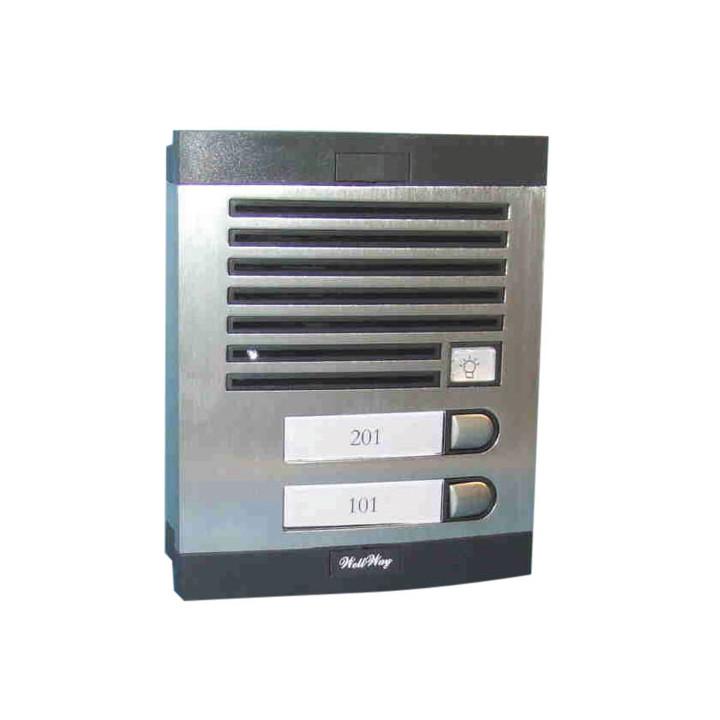 Intercom street intercom plate for 2 apartments external intercom station intercom system audio and intercom panels intercom str