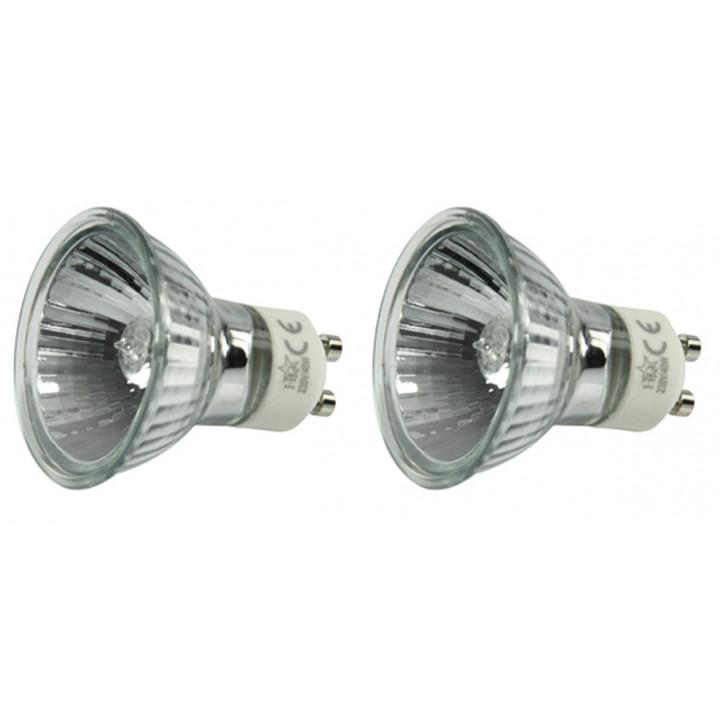 2 lampara electrica gu10 20w 220v lamp h0621hq foco iluminacion luz 230v 240v bombilla halogena