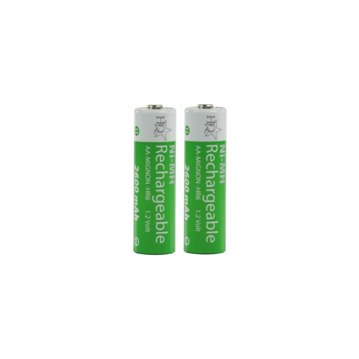 2 batteries rechargeable lr06 hq nimh 1.2 v 2600 mah aa hq nimh aa 03 lr6 accu accumulateur