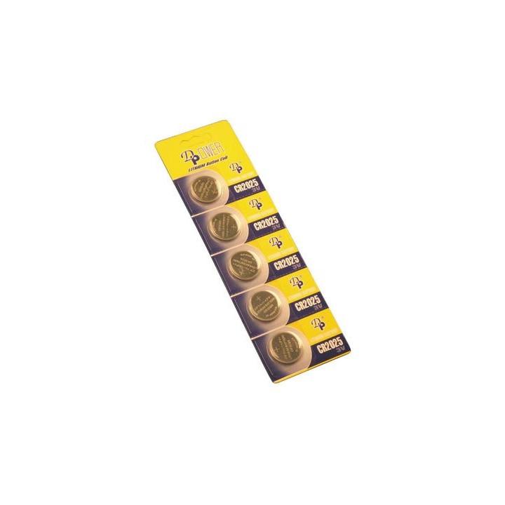 Pile lithium 3vcc (5 pcs cr2025) bouton alimentations