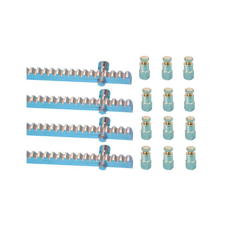 Cremagliera zinco 4m30x12mm + 12 supporti cancelli automatici scorrevoli