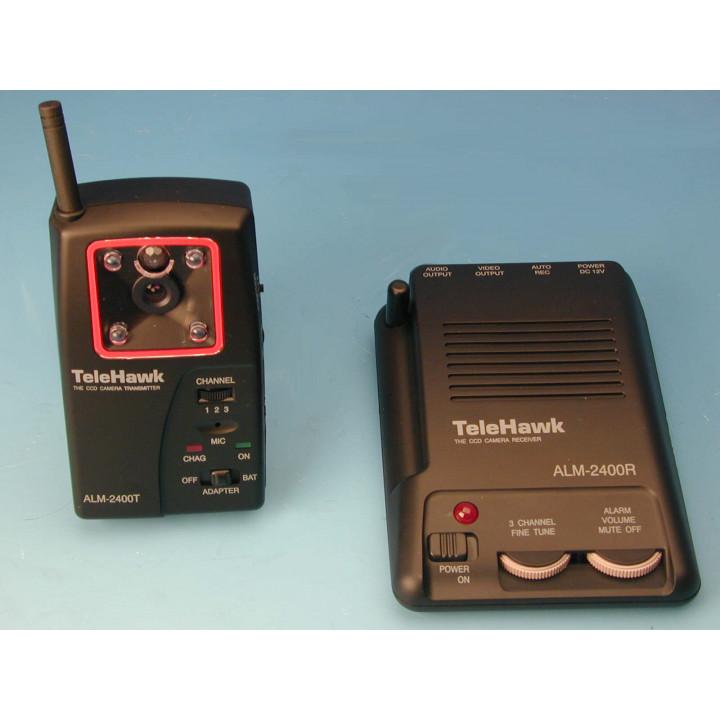 Camara color inalambrica + objetivo 2.4ghz 50mw 600m + receptor radio alm2400 sistema de video vigilancia color