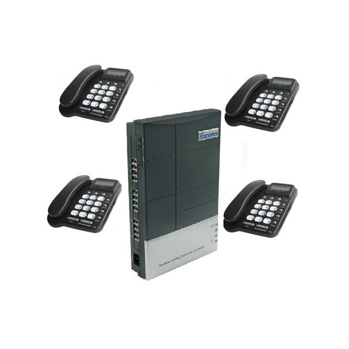 Pack central telephonique 2 lignes 8 postes pabx autocommutateur téléphone standard autocom