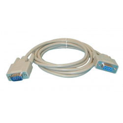 Serial cable subd9 male subd9 female 2m serial cable subd9 male subd9 female 2m