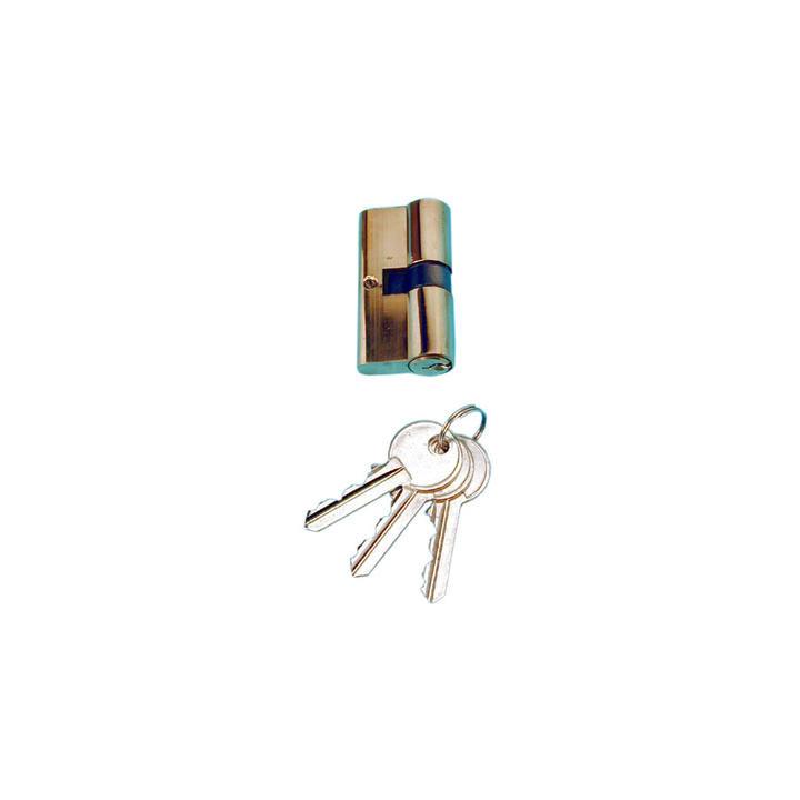 Brass cylinder metal security cylinders, 3 keys european type european doors metal