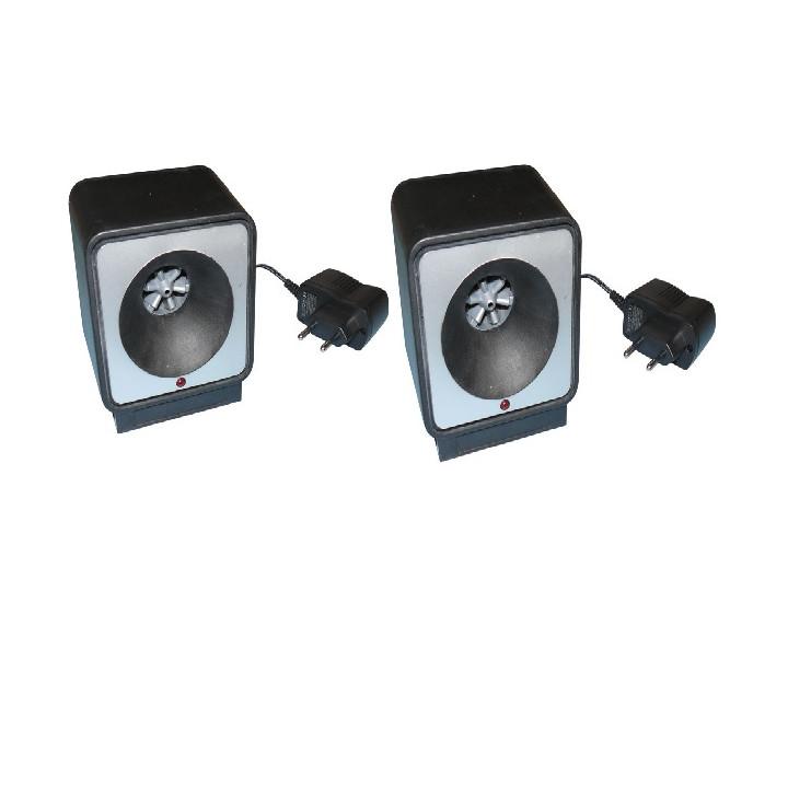 2 repelente ratas por ultrasonidos 220vca 9m 80m²