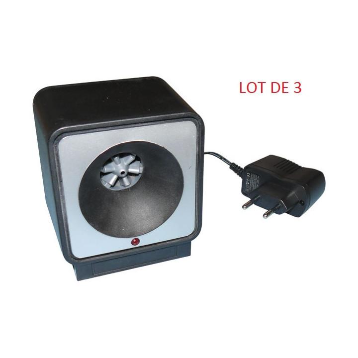 3 repelente ratas por ultrasonidos 220vca 9m 80m²