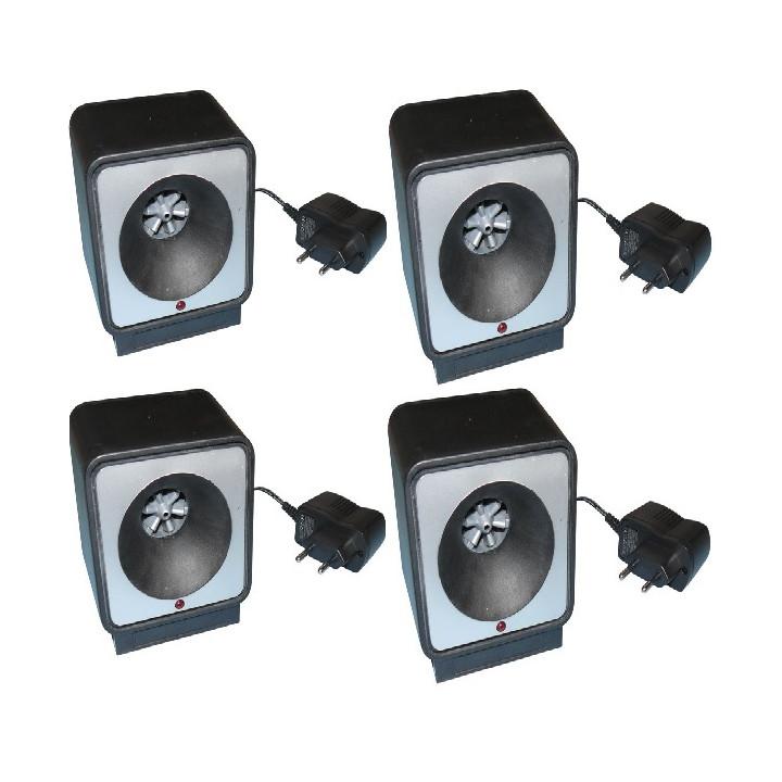 4 repelente ratas por ultrasonidos 220vca 9m 80m²