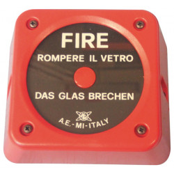 Break glass alarm unit for ae bg20 fire alarm fire control panel fire detection break glass fire alarm fire detection smoke dete