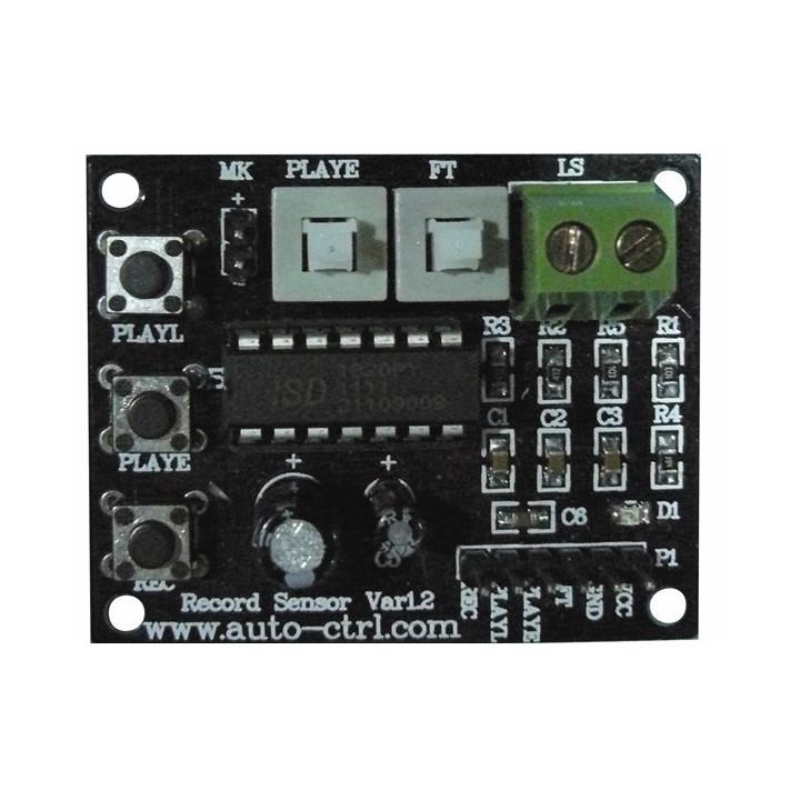 Module enregistrement vocal 3v 4v 5v voix lecture 10sec sans micro pour montage circuit isd1820