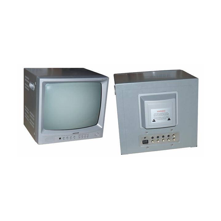 Monitor video vigilancia blanco y negro 17'' 42cm + audio + cuadrante (220vca) para 4 video camaras qv 17m