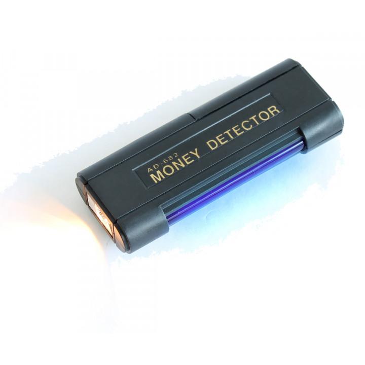 Detecteur uv faux billet euro carte bancaire lumiere noire torche lampe pile tube ultraviolet md-03