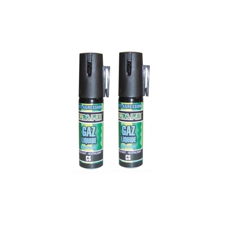 2 aerosol gas paralisante 2% 25ml pequeño modelo anti agresion autodefensa antirrobo proteccion individual seguridad
