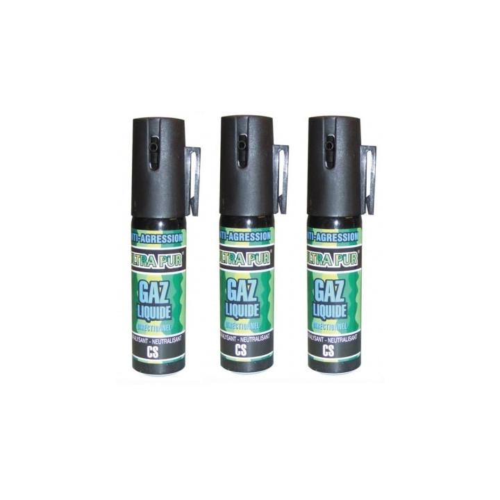 3 aerosol gas paralisante 2% 25ml pequeño modelo anti agresion autodefensa antirrobo proteccion individual seguridad