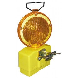 6v lantern lamp amber site 2 leds light lighting secour road safety as-9801