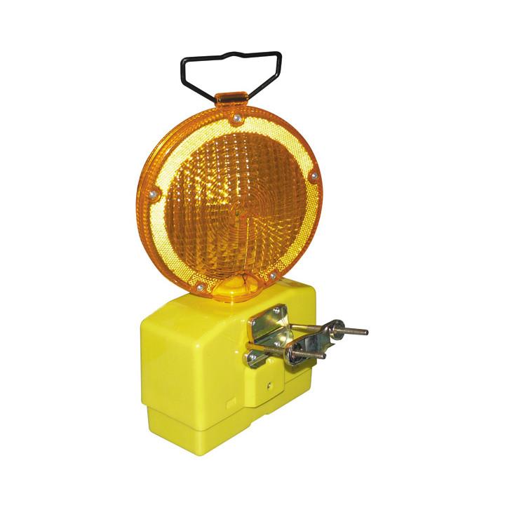 Lampe de chantier 6v lanterne ambre 2 leds eclairage lumiere secour securité routiere as-9801