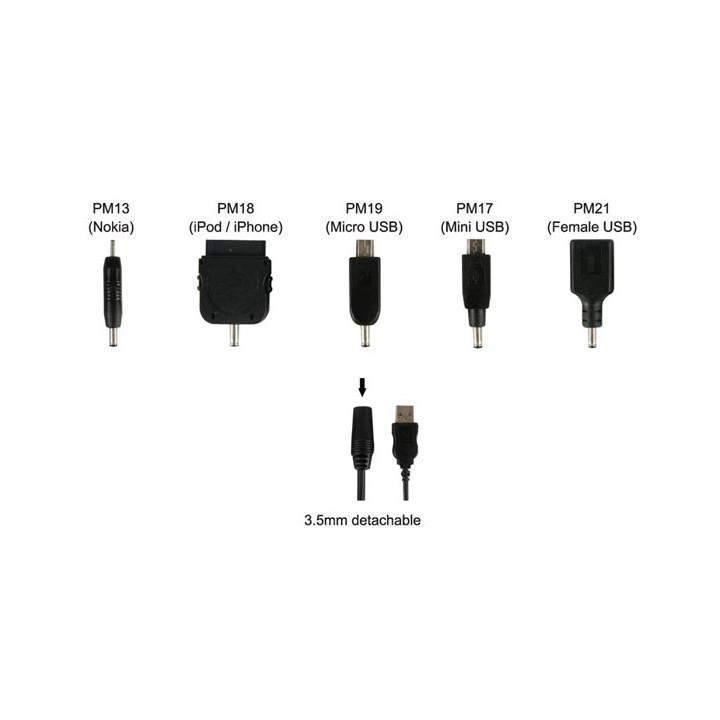 Kabel ladegerät kabel micro-usb-mini-buchse auf 3,5 mm 5 blatt ipod iphone 2mm plugspset8
