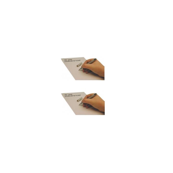 2 stylos encre invisible led lumiere ultra violette james bond agent secret detecteur faux billet