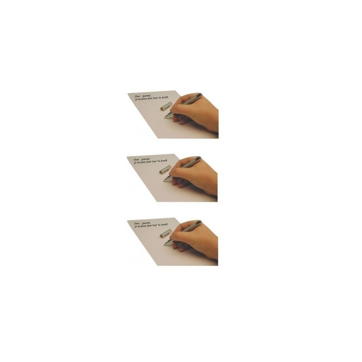 3 stylos encre invisible led lumiere ultra violette james bond agent secret detecteur faux billet