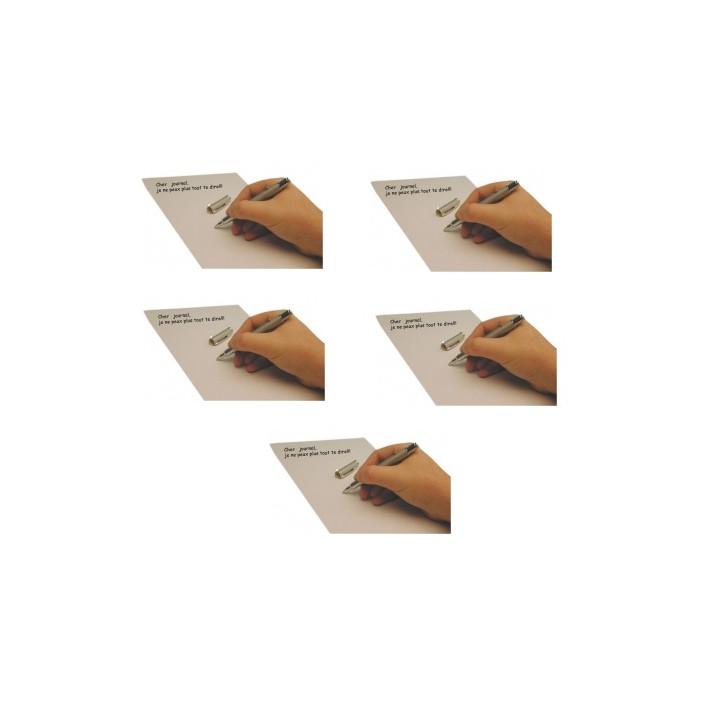 5 stylos encre invisible led lumiere ultra violette james bond agent secret detecteur faux billet