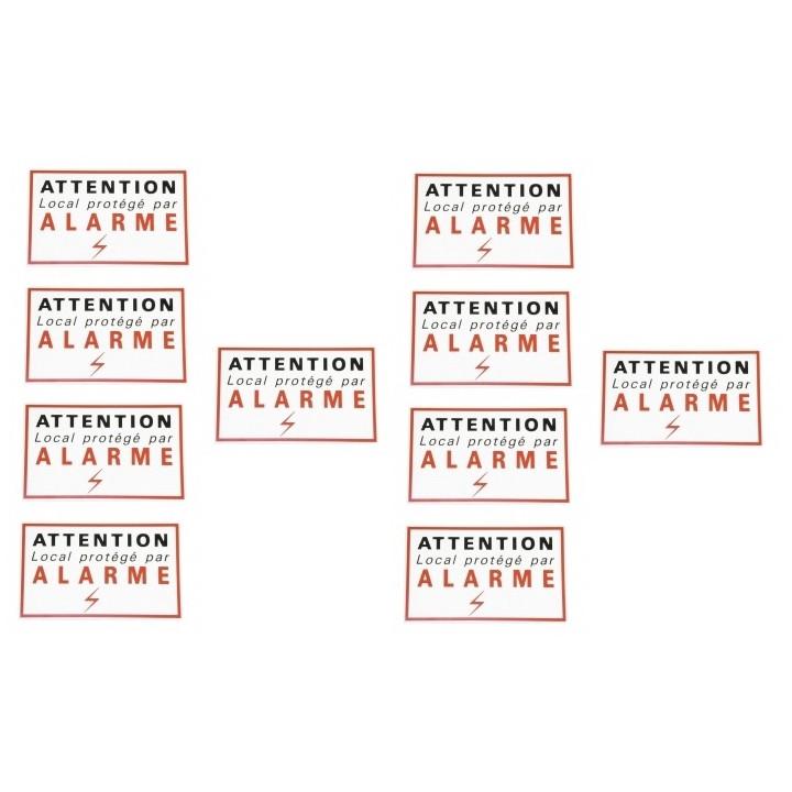 10 etiquetas adhesivas de señalización etiqueta de alarma de seguridad de protección de disuasión autocolant